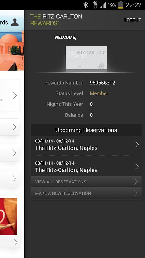 The Ritz-Carlton Hotels - screenshot