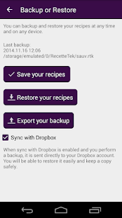 Cookbook Recipes : RecetteTek- screenshot thumbnail