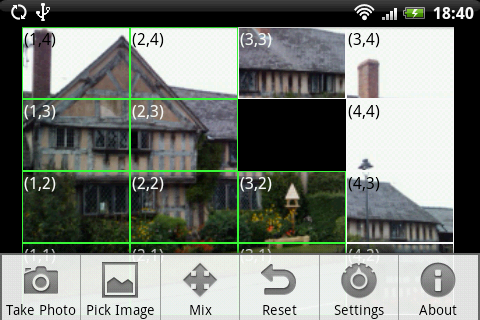 Sliding Picture Puzzle - screenshot