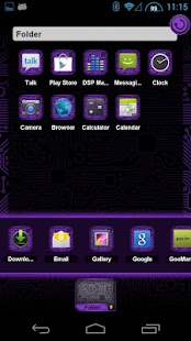 PCB Purple HD TSF Shell Theme - screenshot thumbnail