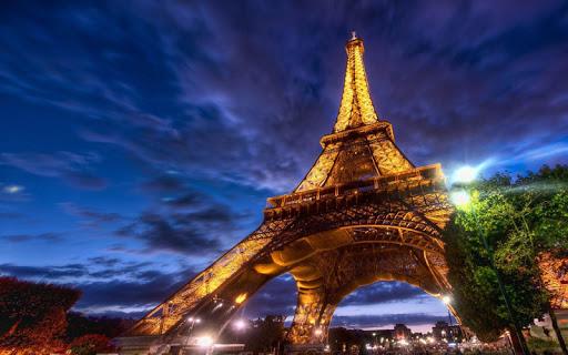 Paris By Night Wallpaper
