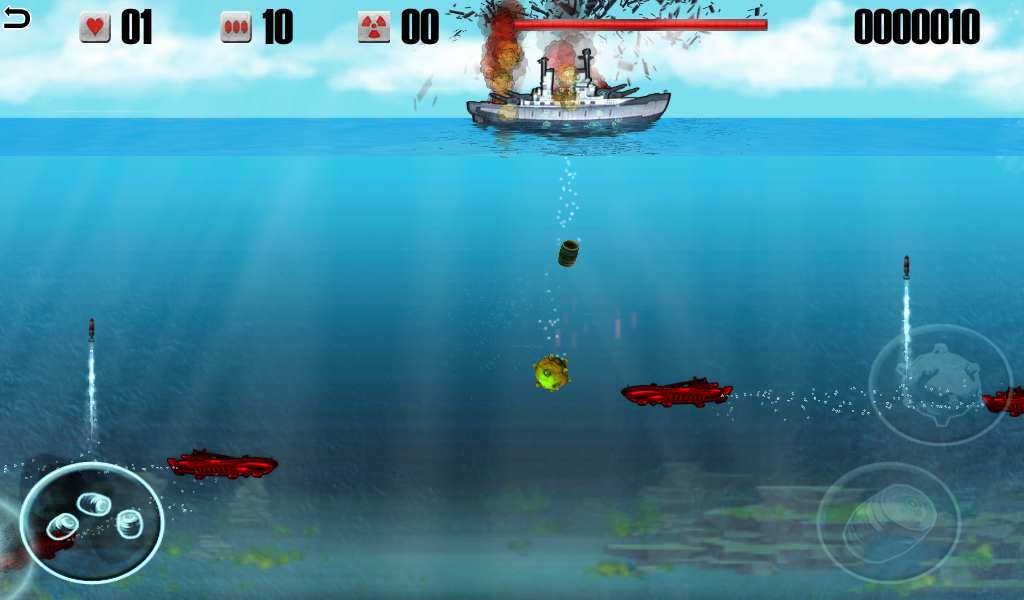 Battleship vs Submarine- screenshot