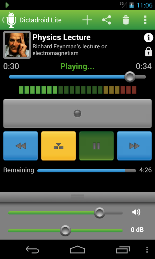Dictadroid Lite Voice Recorder - screenshot