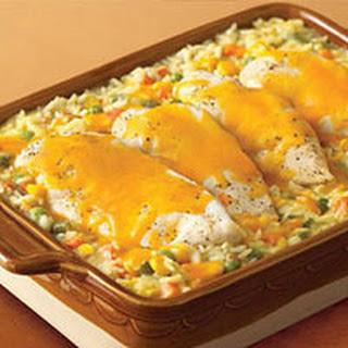 Cheesy Chicken & Rice Casserole.