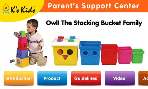 Owl Stacking Bucket Family