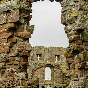 Lindisfarne Priory, Holy Island by Mike Hayter - Buildings & Architecture Decaying & Abandoned ( lindisfarne priory, ruins, holy island, historical, crosses )