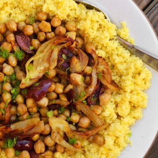 Couscous With Chickpeas, Fennel, and Citrus.