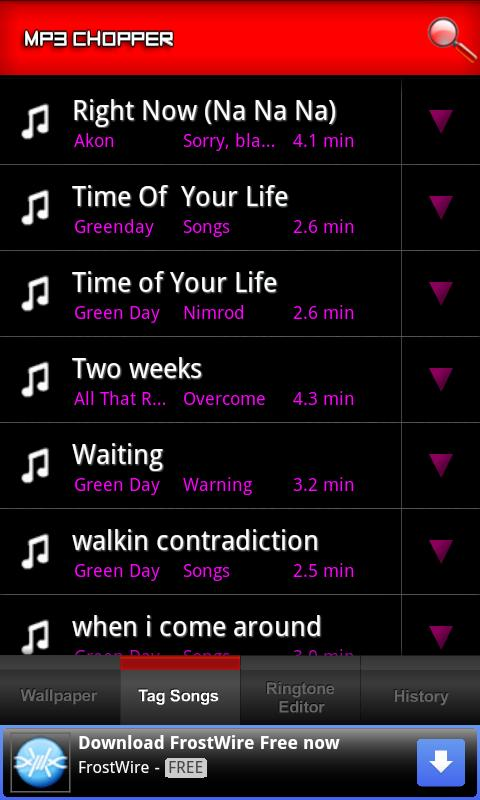 MP3 Chopper & Ringtone Maker - screenshot