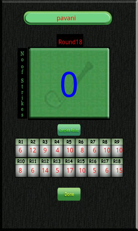 Golf Scoreboard - screenshot