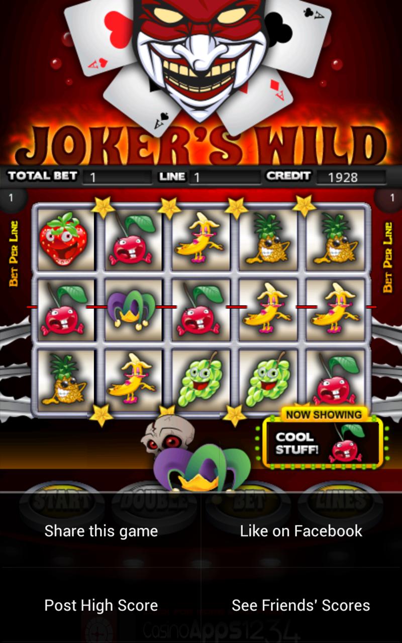 Jokers Wild Slot Machine HD screenshot #8
