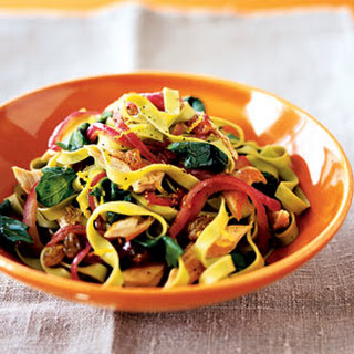 Lemony Pasta With Chicken and Spinach