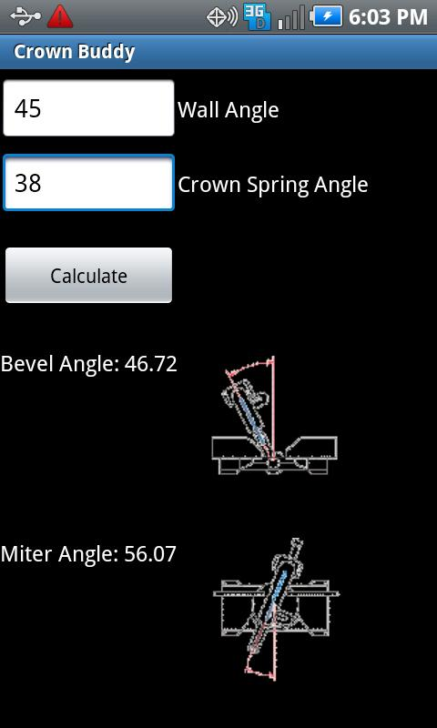 Crown Molding Calculator- screenshot