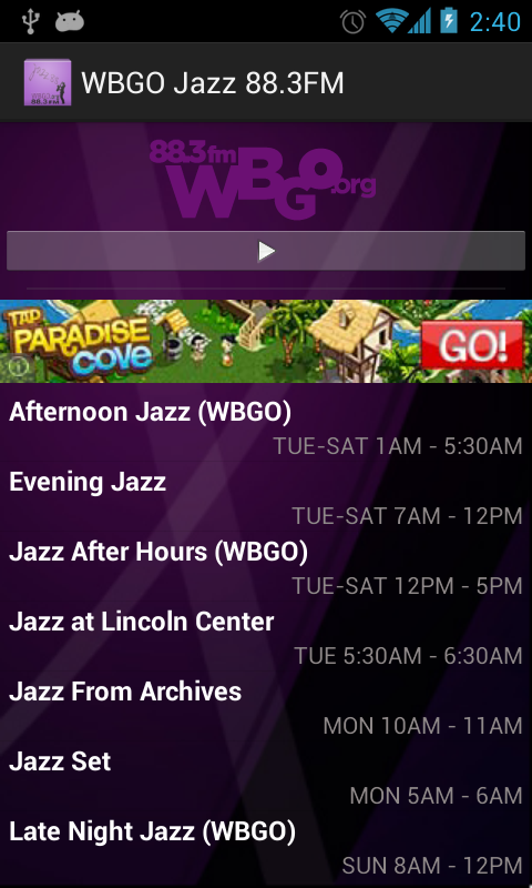 WBGO Jazz 88.3FM- screenshot