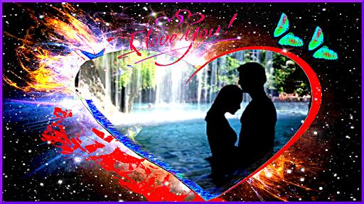 愛のフレームの写真