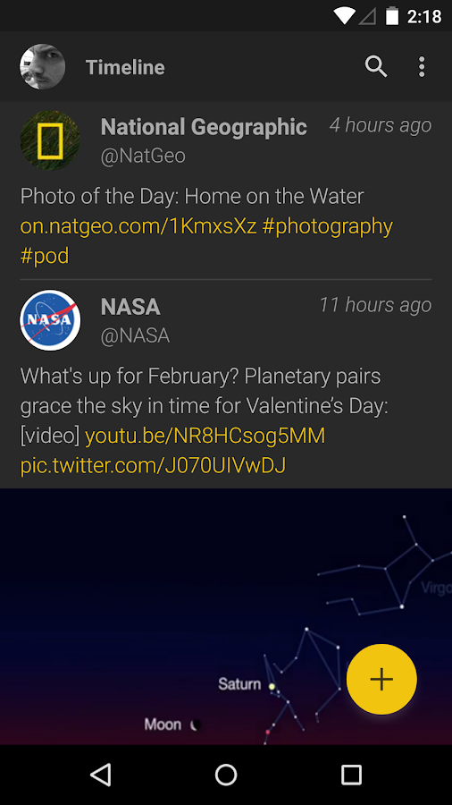 Fenix for Twitter - screenshot