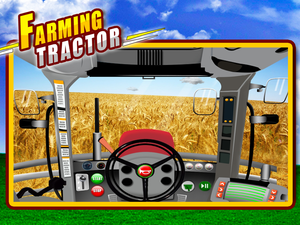 Farm Tractor Wallpaper Farming Tractor Kids 2d Game
