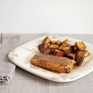 Pork Chops with Port Wine Fig Pan Sauce.