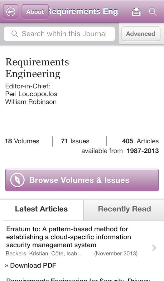 Requirements Engineering - screenshot