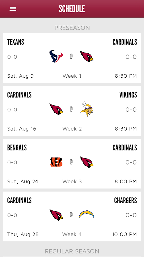 Arizona Cardinals Mobile- screenshot