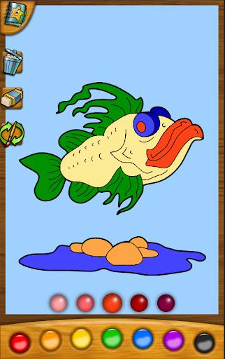 玩免費休閒APP|下載着色ゲーム:魚 app不用錢|硬是要APP