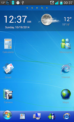 Windows 7 Go Launcher Theme