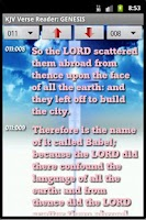 Screenshot of Mini Bible v. 1.5