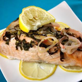 Salmon with Lemon and Basil