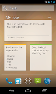 Notes - Note list - screenshot thumbnail