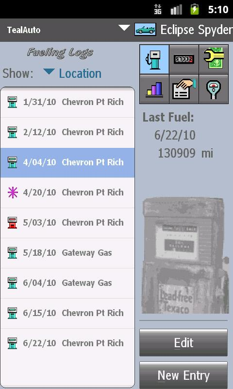 TealAuto Car Mileage & Service - screenshot