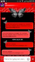 Screenshot of GO SMS - Cute Butterflies 3