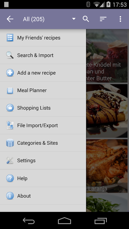 My CookBook (Recipe Manager) - screenshot