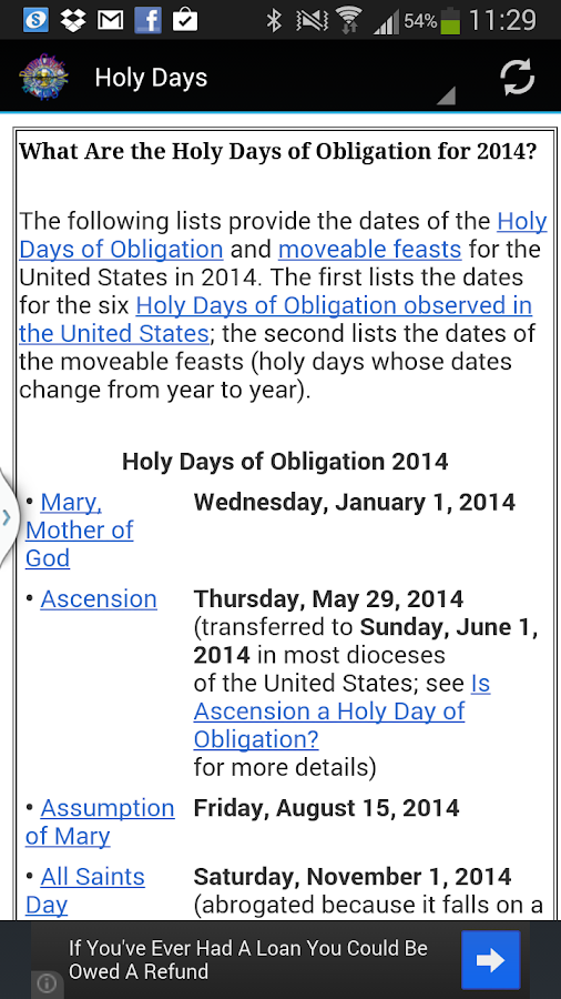 Roman Catholic Mass Guide - screenshot