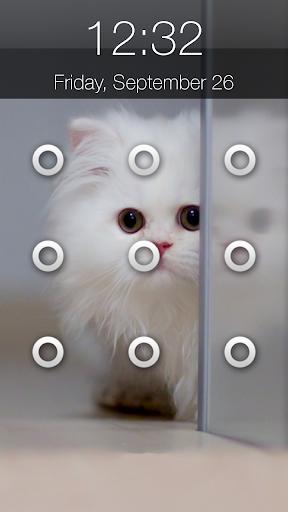 猫柄の画面ロック