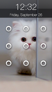 Kitty Cat Pattern Lock Screen - náhled
