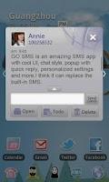 Screenshot of GO SMS Pro Basketball theme