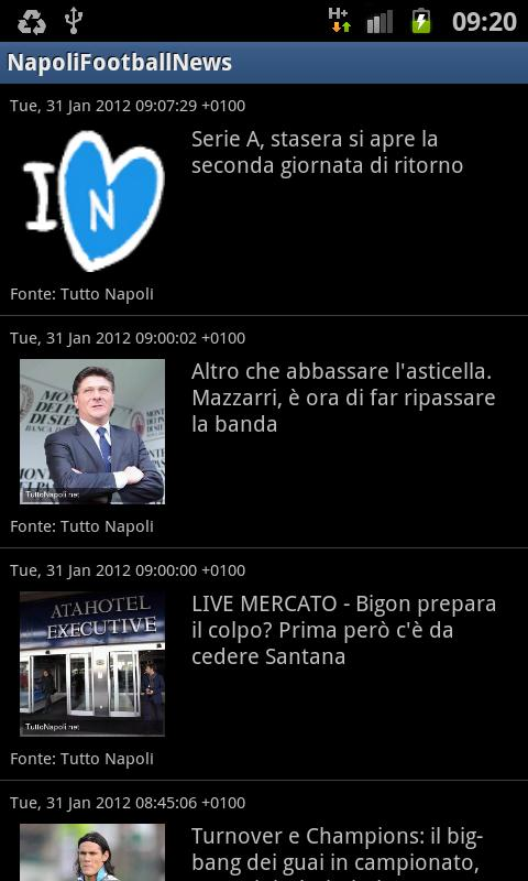 Napoli Football News - screenshot