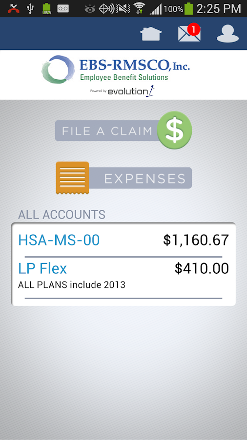 EBS Flex Mobile - screenshot