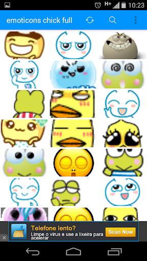 emoticons chick full