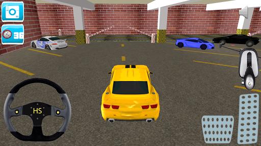 レーシングカー駐車場の3D