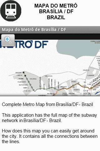 Metro Map - Brasilia - Brazil- screenshot