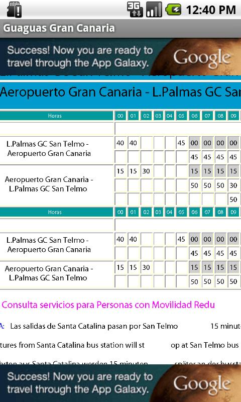 Horario guaguas gran canaria android apps on google play for Horario guaguas global