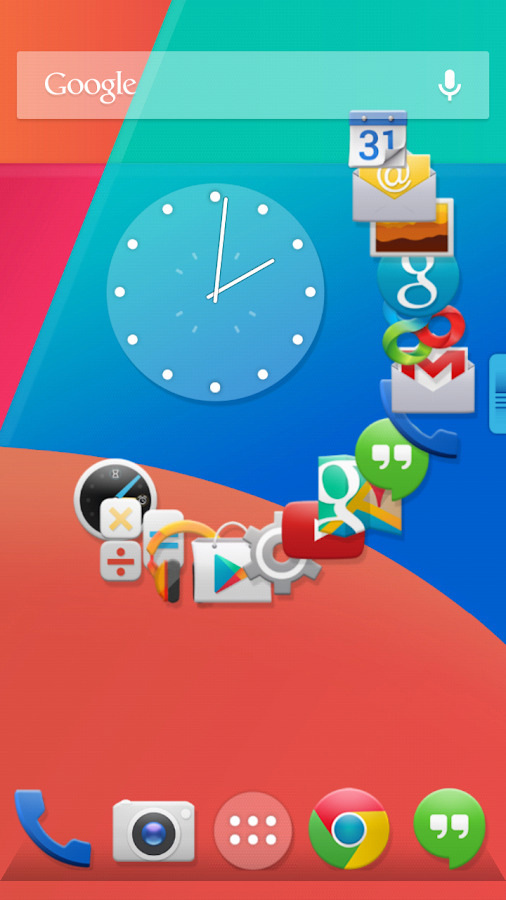 KitKat 4.4 Launcher Theme - screenshot