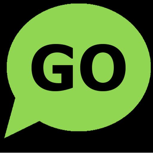 Green and Black Go SMS Theme LOGO-APP點子