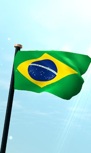 ブラジルフラグ3Dライブ壁紙