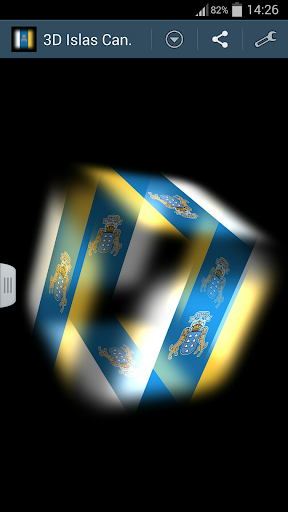 3D Canary Islands Cube Flag