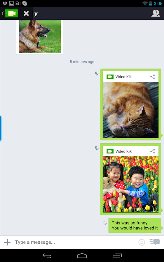 Video Kik - screenshot