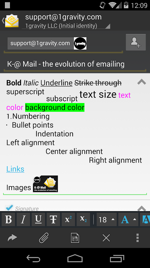 K-@ Mail - email evolved - screenshot