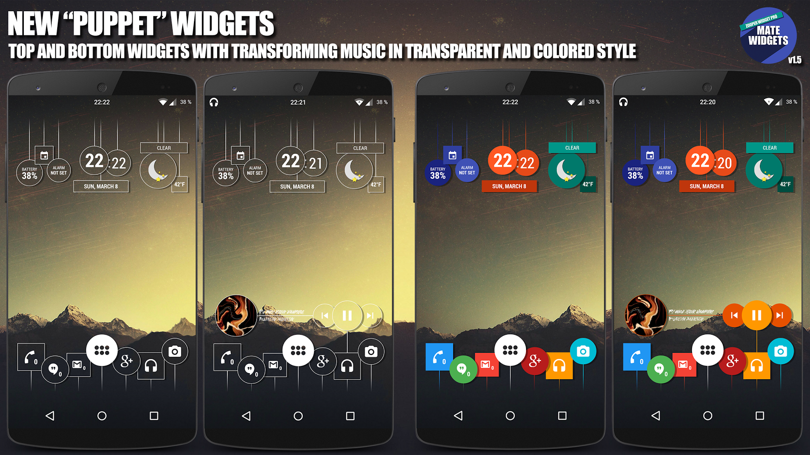 Mate Widgets for ZOOPER - screenshot