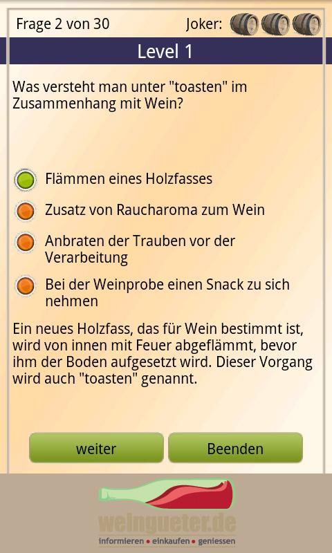 Weinquiz - Deutscher Wein- screenshot