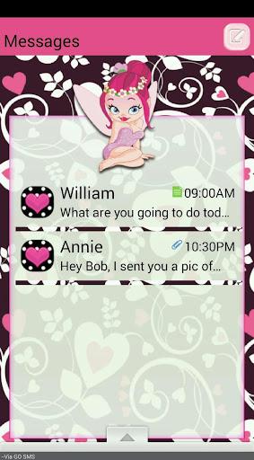 PixieLove GO SMS THEME